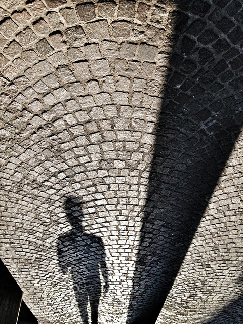 Shadow on brick